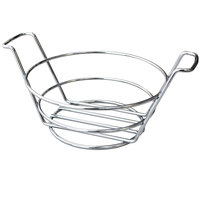 GET 4-22784 7 inch Round Stainless Steel Basket with Handles