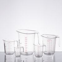 Choice Clear 5-Piece Polycarbonate Measuring Cup Set