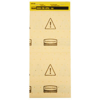 Rubbermaid FG425500YEL Over-The-Spill 17 inch x 7 inch Yellow Mini Absorbent Pad Tablet with 25 Pads