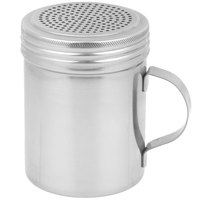 Vollrath T1041P 10 oz. Stainless Steel Shaker / Dredge with Handle