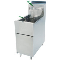 Dean SR42G Natural Gas Super Runner Floor Fryer 35-43 lb.