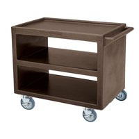 Cambro BC2354S Dark Brown Three Shelf Service Cart - 37 1/4 inch x 21 1/2 inch x 34 5/4 inch