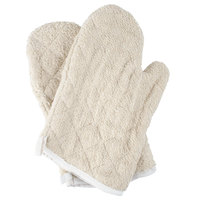 """Choice 13"""" Terry Oven Mitts - 2/Pack"""