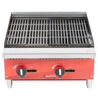 Avantco AG24RC 24 inch Gas Countertop Radiant Charbroiler - 60,000 BTU