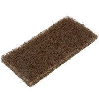 3M 8541 Doodlebug 10 inch x 4 5/8 inch Brown Scrub 'N Strip Pad - 5/Pack
