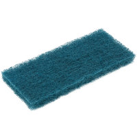 3M 8242 Doodlebug 10 inch x 4 5/8 inch Blue Scrubbing Pad   - 5/Pack