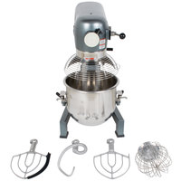 Avantco MX20WFB 20 Qt. Gear Driven Commercial Planetary Stand Mixer with Guard and Flexible Silicone Blade Beater - 110V, 1 hp