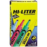Avery AVE17752 Hi-Liter® Chisel Tip Desk Style Highlighter, Light Color Assortment - 4/Box