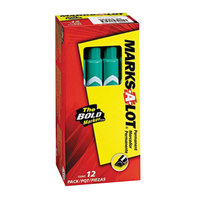 Avery AVE08885 Marks-A-Lot Large Green Chisel Tip Desk Style Permanent Marker - 12/Box