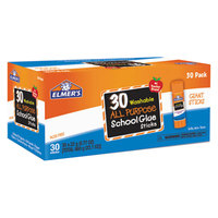 Elmer's EPIE599 0.77 oz. Clear School Glue Stick - 30/Box