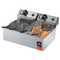 Vollrath 40708 20 lb. Commercial Countertop Deep Fryer 220V 2 x 2500W