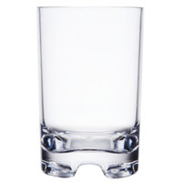 GET SW-1424-CL (SW1424) 12 oz. SAN Plastic Squat Rocks Glass