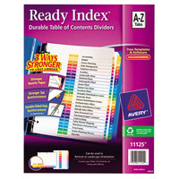 Avery AVE11125 Ready Index A-Z Multi-Color Table of Contents Dividers