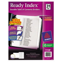 Avery AVE11128 Ready Index Day-of-the-Month White Table of Contents Dividers