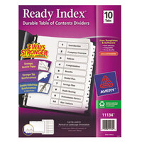 Avery AVE11134 Ready Index 10-Tab White Table of Contents Dividers
