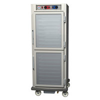 Metro C599-SDC-UPDS C5 9 Series Pass-Through Heated Holding and Proofing Cabinet - Solid / Clear Dutch Doors