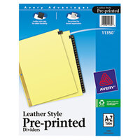 Avery AVE11350 Pre-Printed Black Leather 25-Tab A-Z Dividers