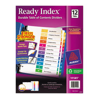 Avery AVE11141 Ready Index 12-Tab Multi-Color Table of Contents Dividers