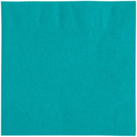 Choice 10 inch x 10 inch Teal 2-Ply Beverage / Cocktail Napkins - 250 / Pack