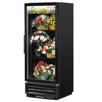 True GDM-12FC-HC-LD 25 inch Black Glass Door Floral Case