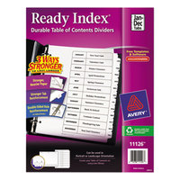 Avery AVE11126 Ready Index Monthly White Table of Contents Dividers