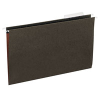 Universal UNV14213 14 inch x 8 1/2 inch Standard Green Hanging File Folder with 1/3 Cut Top, Legal - 25/Box
