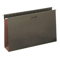 Universal UNV14153 14 inch x 8 1/2 inch Standard Green Hanging Tabless File Folder with 3 inch Box Bottom, Legal - 25/Box