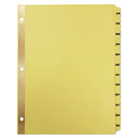 Universal UNV20814 Buff Plastic-Coated 12-Tab Preprinted Month Tab Dividers
