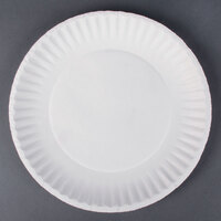 9 inch White Economy Paper Plate 1200/Case (PP9GRAWH)