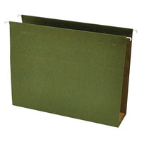 Universal UNV14143 11 inch x 8 1/2 inch Standard Green Hanging Tabless File Folder with 3 inch Box Bottom, Letter - 25/Box