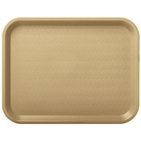 Carlisle CT101406 Customizable Cafe 10 inch x 14 inch Beige Standard Plastic Fast Food Tray - 24/Case