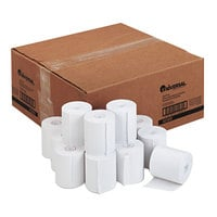 Universal Office UNV42300 3 inch x 165' White 1-Ply Cash Register and Point of Sale 16# Paper Roll - 50/Case