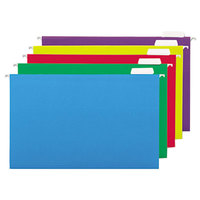 Universal UNV14221 14 inch x 8 1/2 inch Assorted Color Hanging File Folder with 1/5 Cut Top, Legal - 25/Box
