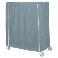 Metro 21X60X74CMB Mariner Blue Coated Waterproof Vinyl Shelf Cart and Truck Cover with Zippered Closure 21 inch x 60 inch x 74 inch