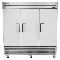 True T-72-HC 78 1/8 inch Solid Door Reach-In Refrigerator