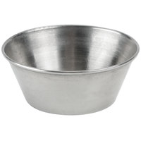 1.5 oz. Stainless Steel Round Sauce Cup - 12 / Pack