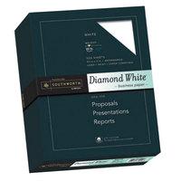 Southworth SOU3122010 8 1/2 inch x 11 inch Diamond White 25% Cotton 20# Business Paper - 500/Pack