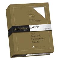 Southworth SOU3172410 8 1/2 inch x 11 inch White 25% Cotton 24# Laser Paper - 500/Pack