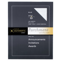 Southworth SOUP964CK336 8 1/2 inch x 11 inch Blue 24# Parchment Specialty Paper - 100/Pack