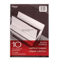 Mead MEA40114 8 1/2 inch x 11 inch Mill Finish Carbon Paper - 10/Pack