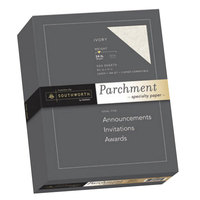 Southworth SOU984C 8 1/2 inch x 11 inch Ivory 24# Parchment Specialty Paper