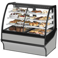 True TDM-DZ-48-GE/GE 48 inch Stainless Steel Dual Dry / Refrigerated Bakery Display Case