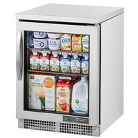 True TUC-24G-HC~FGD01 24 inch Undercounter Refrigerator with Glass Door
