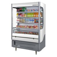 Beverage Air VM18-1-W White and Gray VueMax Air Curtain Merchandiser 51 inch - 18 Cu. Ft.