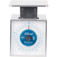 Edlund MSR-5000 5000 Gram Stainless Steel Metric Portion Scale with 6 inch x 6 3/4 inch Platform