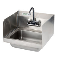 Regency Wall Mounted Hand Sink with Faucet and Sidesplash - 17 inch x 15 inch