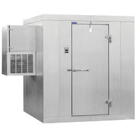 Nor-Lake KLB7468-W Kold Locker 6' x 8' x 7' 4 inch Floorless Indoor Walk-In Cooler with Wall Mounted Refrigeration