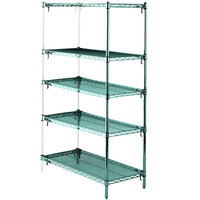 Metro 5AA327K3 Stationary Super Erecta Adjustable 2 Series Metroseal 3 Wire Shelving Add On Unit - 18 inch x 30 inch x 74 inch