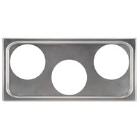 Vollrath 19188 4/3 Size Stainless Steel Adapter Plate with (3) 8 3/8 inch Holes