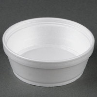 Dart Solo 8SJ32 8 oz. Customizable Super Squat White Foam Food Bowl 500 / Case